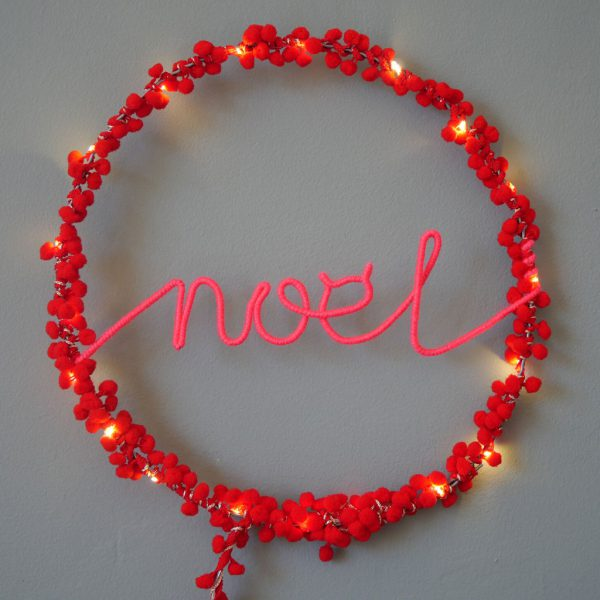 Noel Fairy Light Hoop by Melanie Porter at The Decorcafe - Lifestyle Image