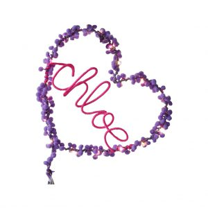 Personalised Fairy Light Heart by Melanie Porter at The Decorcafe - Cutout Image