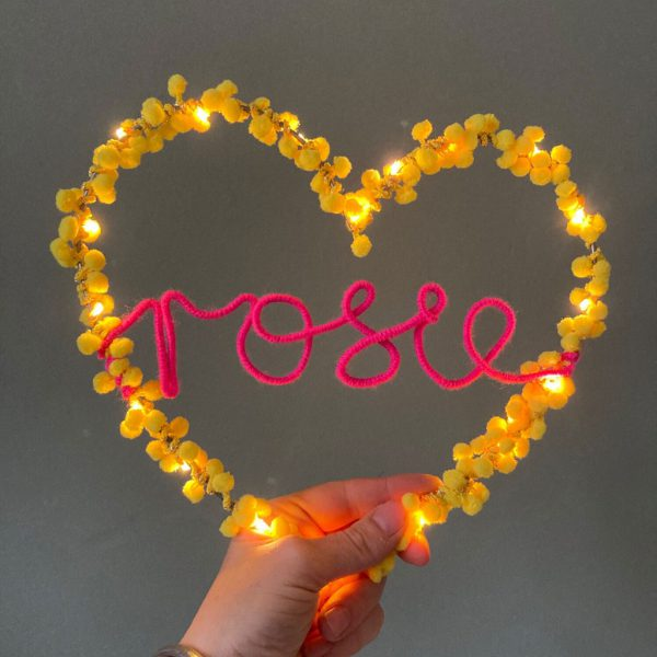 Personalised Fairy Light Heart by Melanie Porter at The Decorcafe - Lifestyle Image