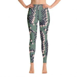 Scaled 1 Long Yoga Leggings by Rebecca J Mills at The Decorcafe - Front Cutout Image