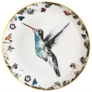 Hector Hummingbird Decorative Plate by Susannah Weiland Collections at The Decorcafe - Cutout Image