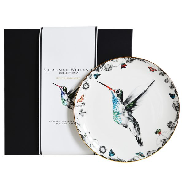 Hector Hummingbird Decorative Plate by Susannah Weiland Collections at The Decorcafe - Gift Box Image