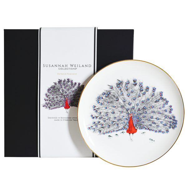 Patrick Peaock Decorative Plate by Susannah Weiland Collections at The Decorcafe - Gift Box Image